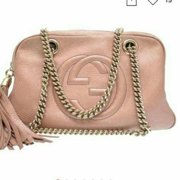 6377bbbbf1abd Gucci soho Rose Gold chain strap leather bag